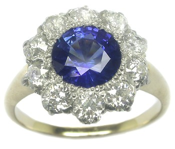 Victorian sapphire ring, Victorian sapphire diamond ring, Ceylon sapphire diamond ring, sapphire ring, sapphire diamond ring