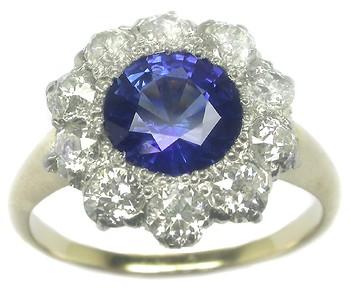 Victorian sapphire ring, Victorian sapphire diamond ring, Ceylon sapphire diamond ring, sapphire ring, sapphire diamond ring