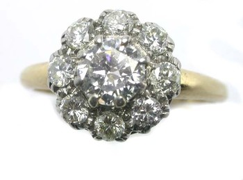 victorian, victorian diamond ring, cluster ring, cluster diamond ring