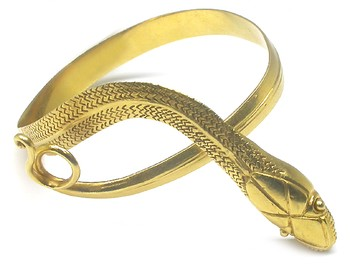 Bracelets | 22k Yellow Gold Greek Snake Bangle | New York Estate Jewelry | Israel Rose
