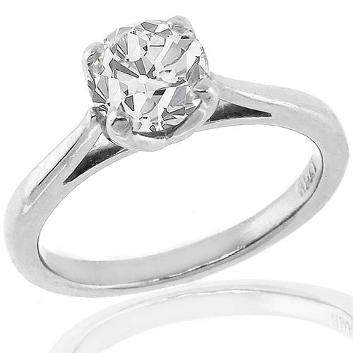 0.81ct Diamond Solitaire Engagement Ring