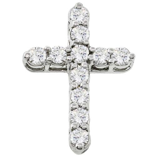 0.90ct Diamond Gold Cross Pendant