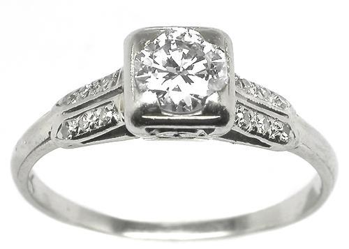 0 45ct Round Diamond 14k Gold Engagement Ring