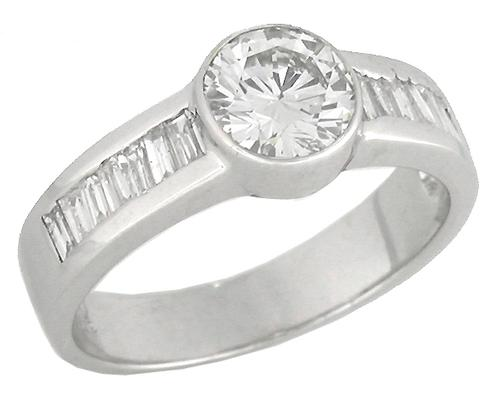 0.95ct Old European Diamond 18k Gold Engagement Ring