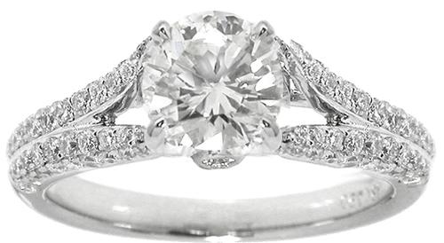 1.00ct Diamond GIA Certified 18k White Gold Engagement Ring