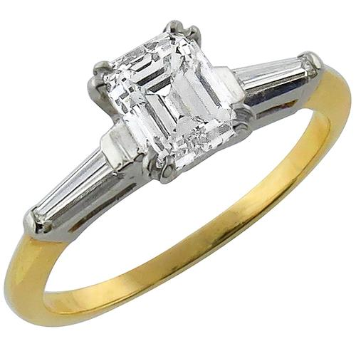GIA Certified Diamond 14K Gold Engagement Ring