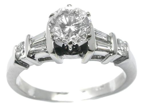 GIA Certified 1.02ct. Diamond 14k White Gold Engagement Ring
