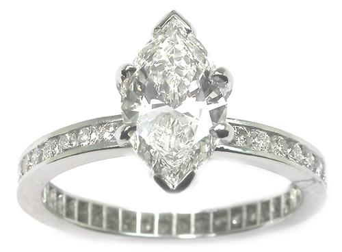 GIA Certified Diamond White Gold Engagement Ring