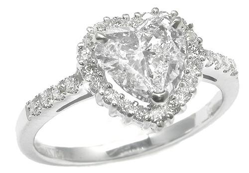 CGIA Certified Heart Diamond Engagement Ring