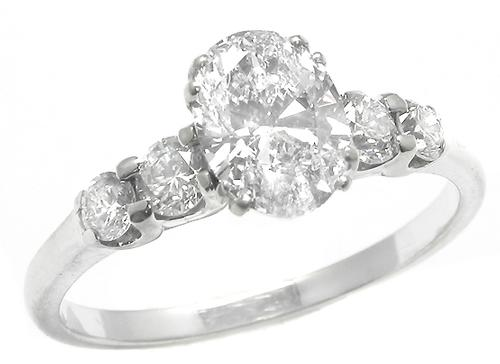 GIA Certified Oval Cut Diamond Engagement Ring