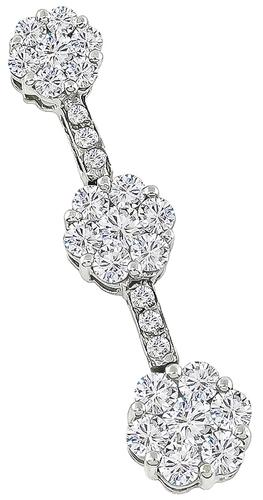 Round Cut Diamond 14k Gold Pendant