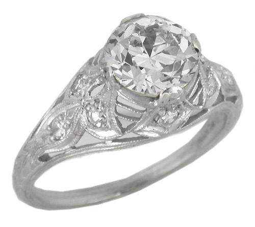 1.69ct Old European Diamond Platinum Engagement Ring