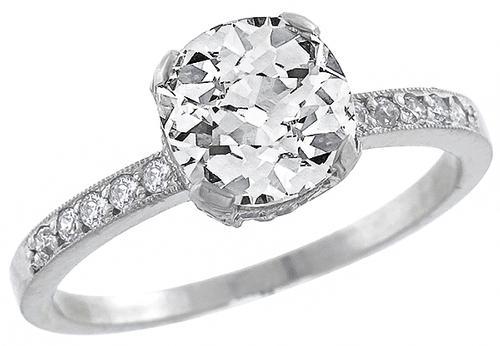 Buy 1 72ct Edwardian Style Platinum Diamond Engagement Ring New