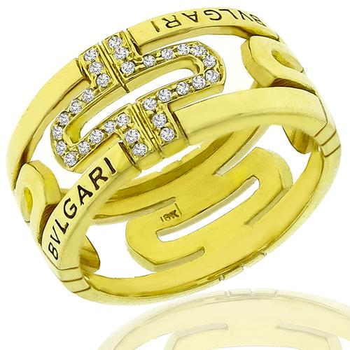 Bvlgari 0.65ct Diamond Gold Open Ring