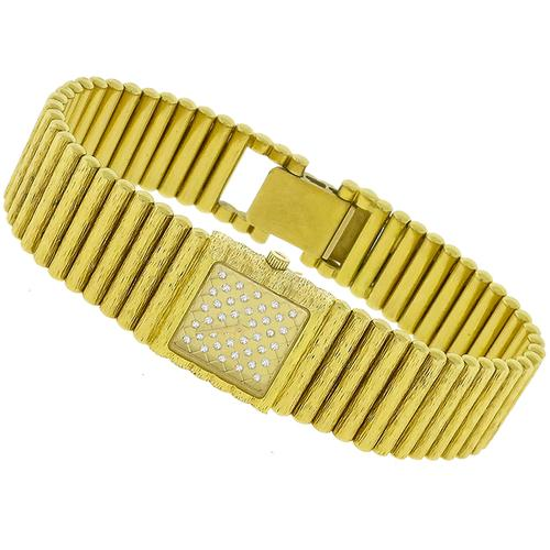 0.40ct Diamond Gold Quartz Watch
