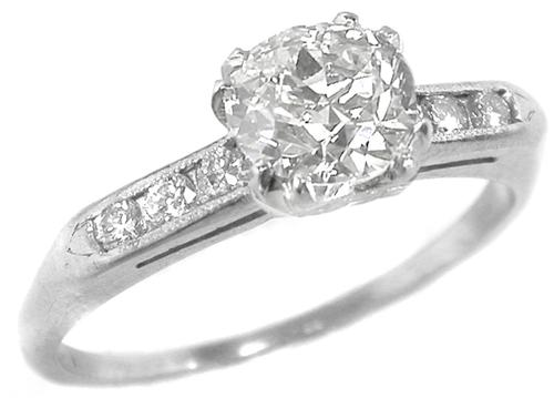 Antique Engagement Ring GIA Certified