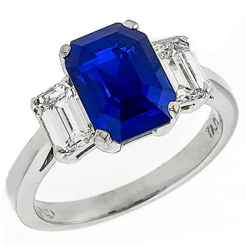 landseer lion product carat asscher f rose blue cut ct ring gold engagement sapphire diamond victorian