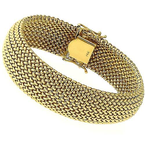 Vintage Gold Weave Bracelet