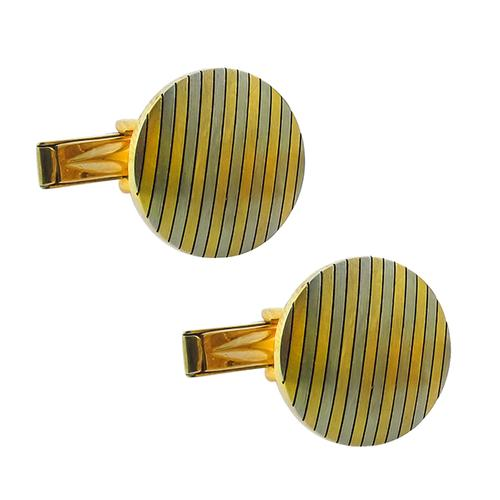 18k Yellow & White Gold Cufflink