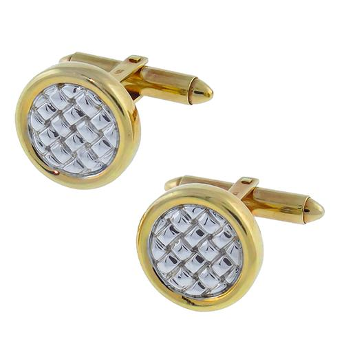 14k Yellow & White Gold Cufflink