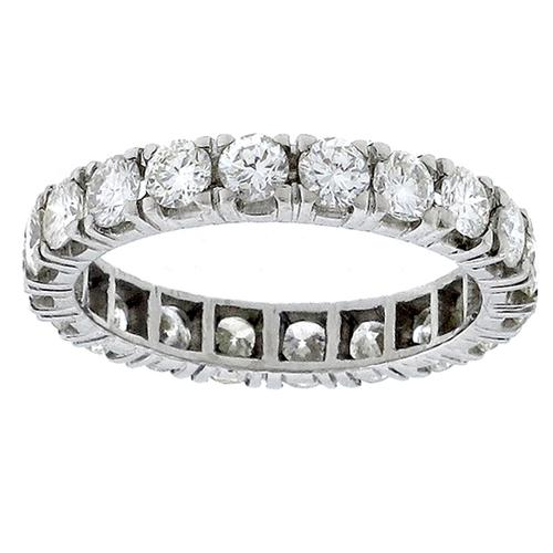 Estate 2.00ct Round Cut Diamond Eternity Platinum  Wedding Band