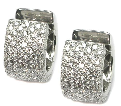 2.00ct Round Cut Diamond 18k White Gold Earrings