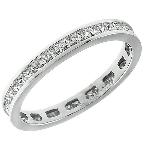 2.25ct Princess Cut Diamond Eternity 18k White Gold  Wedding Band