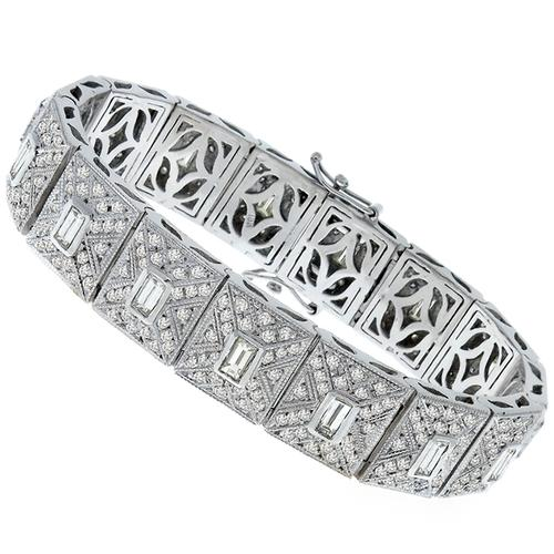 8.40cttw Diamond Gold Bracelet