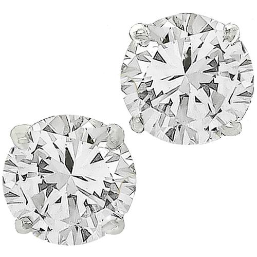 2.06ct Diamond Gold Stud Earrings