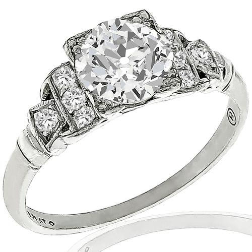 GIA 0.93ct Diamond Platinum Engagement Ring