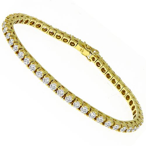 4.50ct Diamond Tennis Gold Bracelet