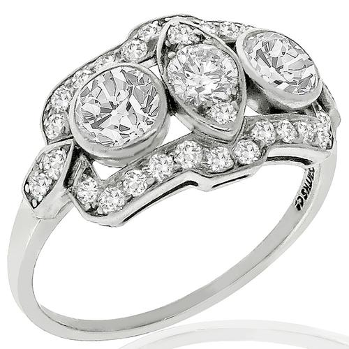 Art Deco 1.00ct Diamond Anniversary Ring