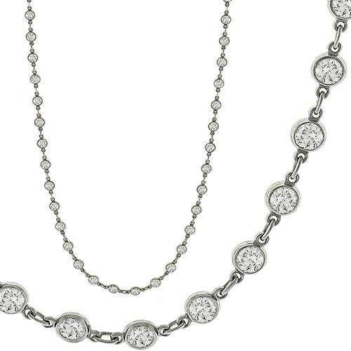 4.68ct Diamond By The Yard Necklace