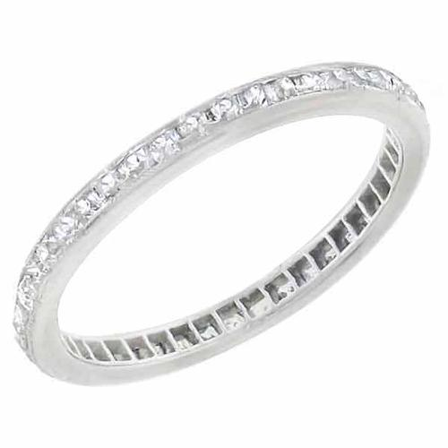 1920s 1.00ct French Cut Diamond Eternity Platinum Wedding Band