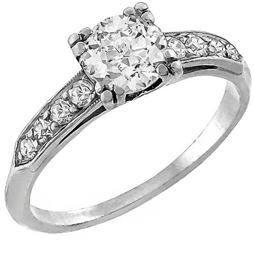 0.50ct  Diamond Platinum Engagement Ring