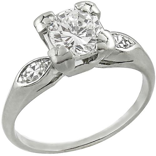 Estate 0.70ct Diamond Engagement Ring