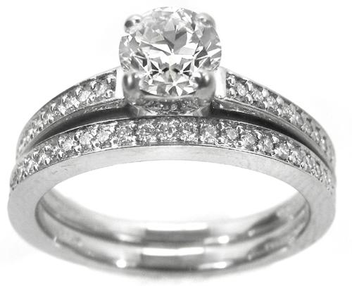 Buy Art Carved 068ct Round Brilliant Diamond Engagement Ring