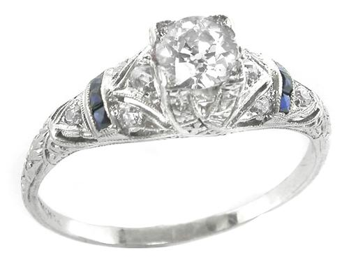 GIA Certified Antique Enagagement Ring