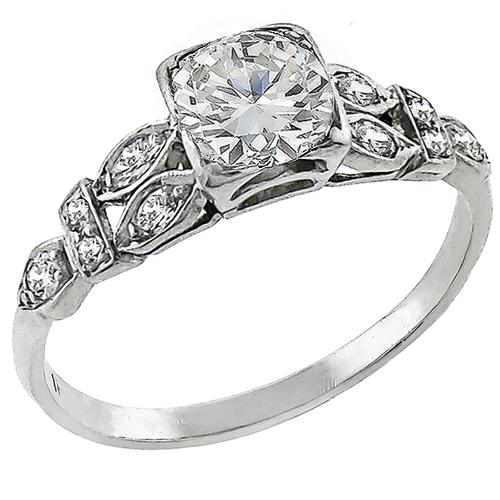 Antique 0.65ct Diamond Engagement Ring