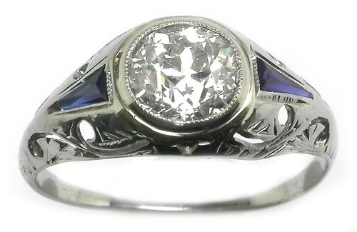 Art Deco GIA Certified Diamond Ring