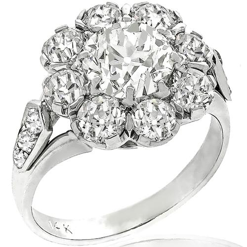 1.71ct Diamond Palladium Gold Ring