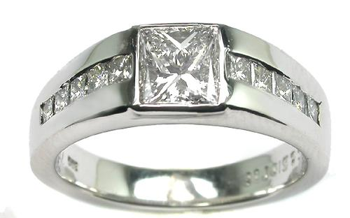 GIA Certified 1.02ct. Princess Cut Diamond Ring