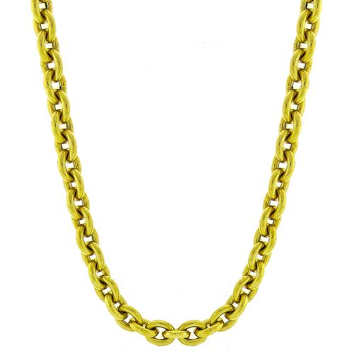 Bulky Gold Cable Chain Necklace