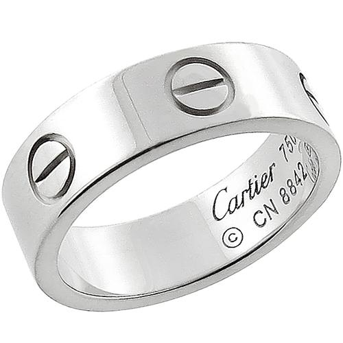 Cartier Love 18k White Gold Wedding Band
