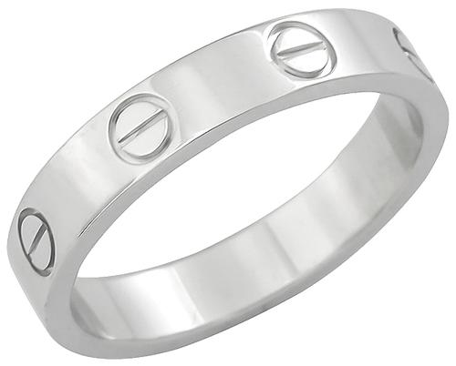 18k White Gold Cartier Love Wedding Band
