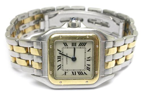 Panthere 18k Yellow Gold & Steel Ladies' Watch By Cartier