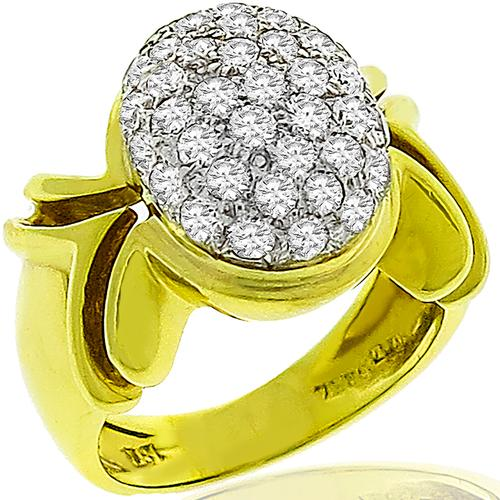 1.05ct Diamond 2 Tone Gold Ring