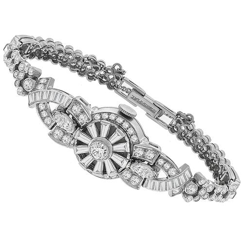 Hamilton Diamond Platinum Cover Watch Bracelet