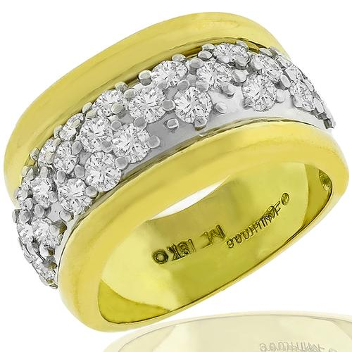 2.00ct Diamond 2 Tone Gold Ring