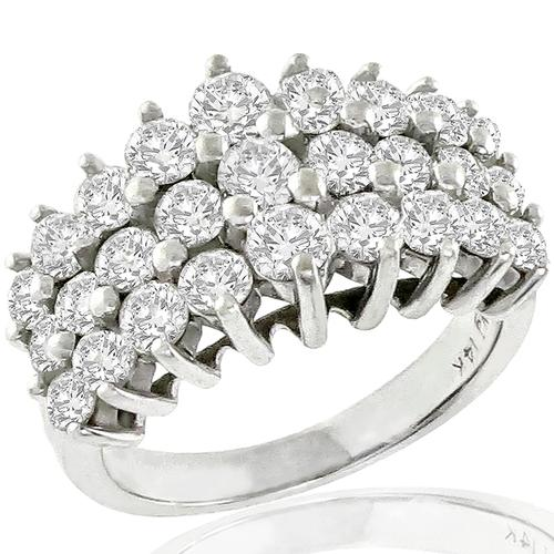 2.16ct Diamond Cluster Gold Ring